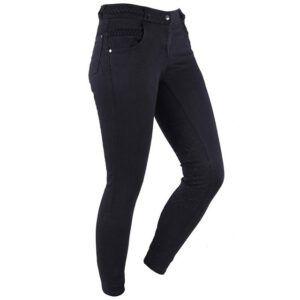 QHP Veerle Jeans zwart voorzijde