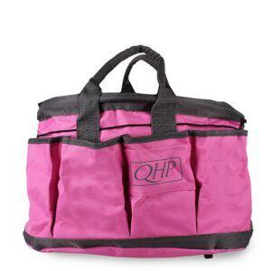 QHP poetstas Roze/Grijs voorzijde
