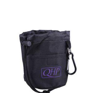 QHP tasje voor snoepjes zwrat/paars