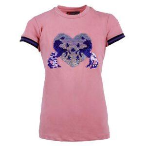 QHP Esma shirt rose voorzijde